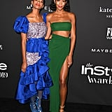 Kilo Kish and Laura Harrier at the InStyle Awards 2019