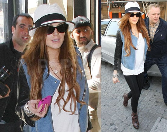 Photos of Lindsay Lohan, Who's Rumored to Be Getting a Job With Ungaro, in Paris