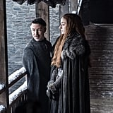 Aidan Gillen as Littlefinger and Sophie Turner as Sansa