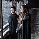 Littlefinger (Aidan Gillen) is cosying up to Sansa (Sophie Turner) again.