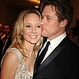 Anne Heche gets a smooch from James Tupper at HBO's party.