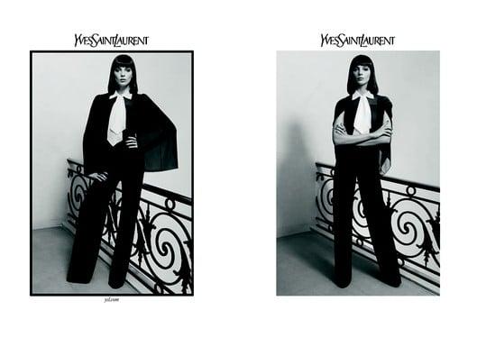 Photos of Daria Werbowy for Yves Saint Laurent Autumn 2010