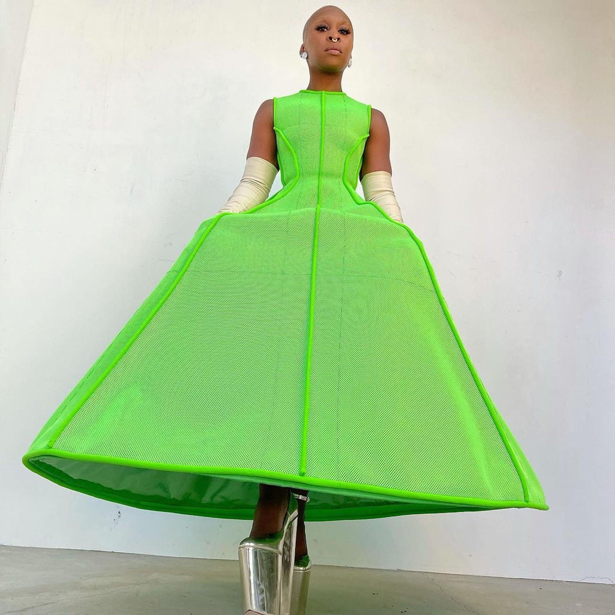 Cynthia Erivo's Green Valentino Dress at the Golden Globes | POPSUGAR  Fashion