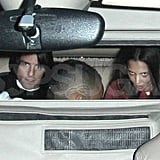Tom Cruise and Katie Holmes leave Katy Perry's show.