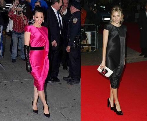 Who Wore It Better? Alexander McQueen Asymmetrical Drape Dress