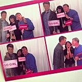 Assistant editor Brittney Stephens couldn't wait to hop in the photo booth with Josh Duhamel and Nicholas Sparks.