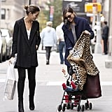 Lily Aldridge and Miranda Kerr played peek-a-boo with Flynn Bloom.