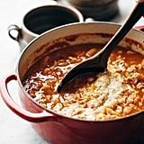Roasted Garlic and White Bean Lasagna Soup