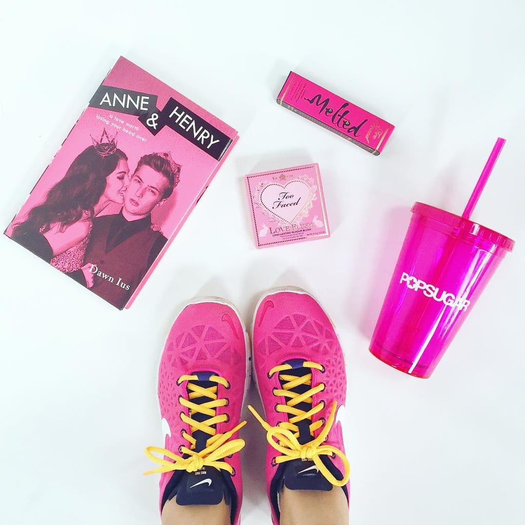 """""""Honoring Pink Out day with all things pink, of course."""""""