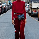 Swing a fanny pack around your waist to break up the look.