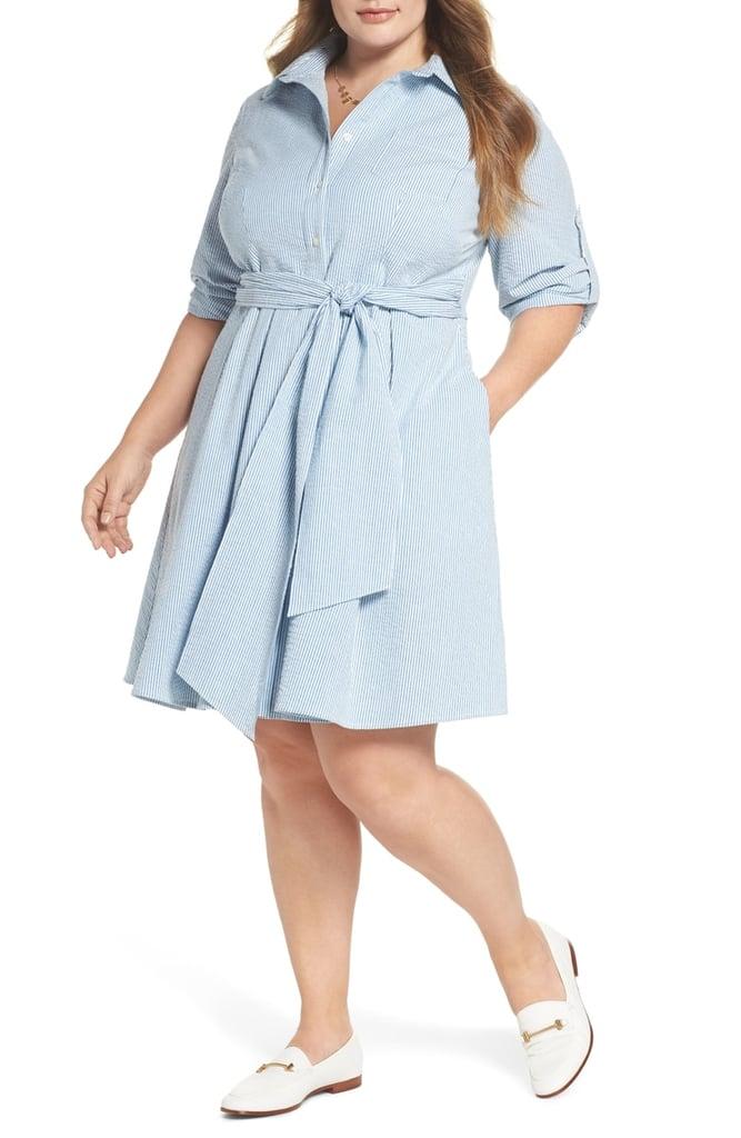 1901 Seersucker Shirtdress | Pippa Middleton Blue Dress at ...
