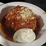 This meatball was paired with a thick ricotta; it was rich and succulent.