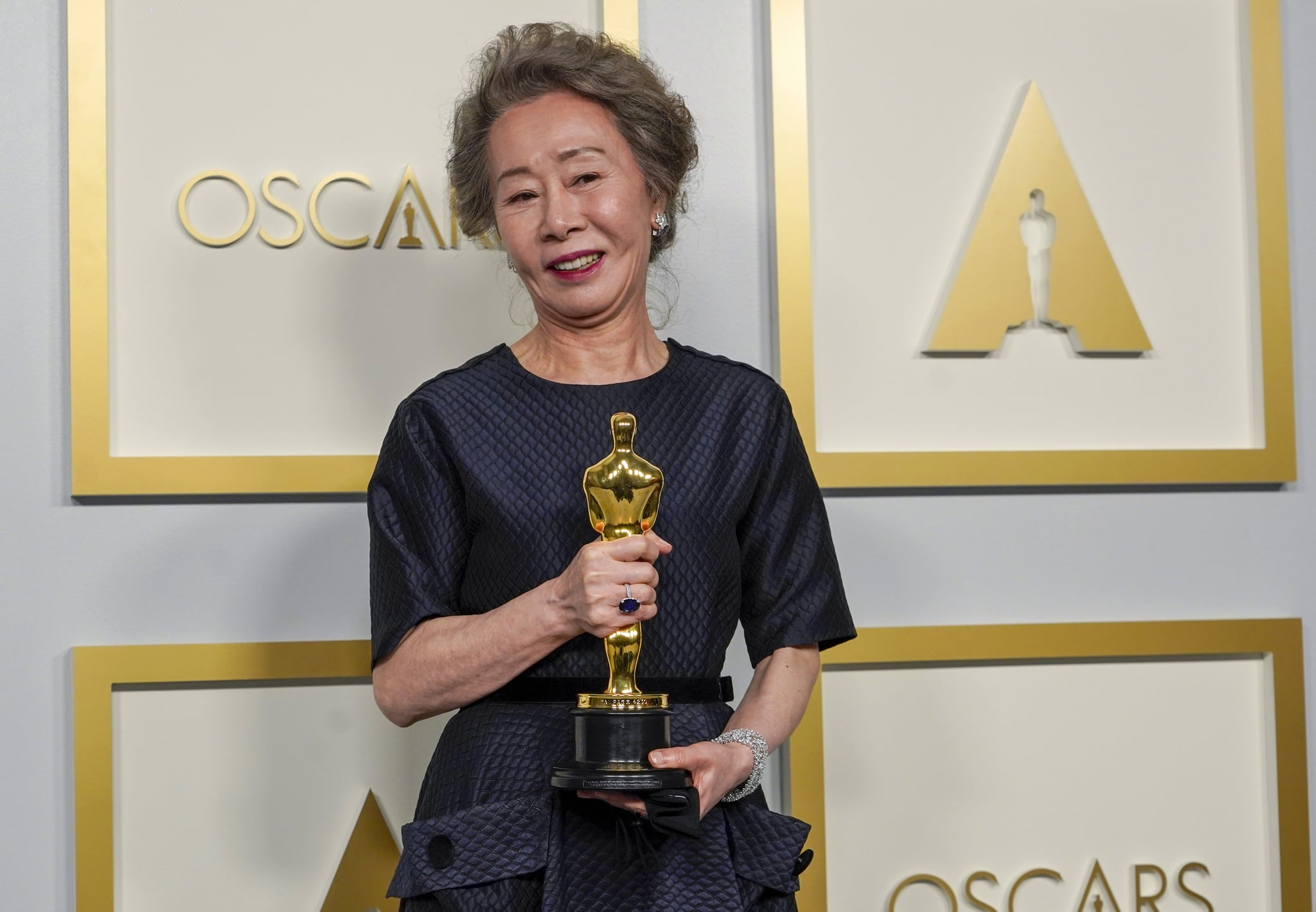 LOS ANGELES, CALIFORNIA - APRIL 25: Yuh-Jung Youn, winner of Best Actress in a Supporting Role for