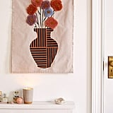 Floral Vase Tufted Tapestry