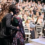 Jared Leto got close to Lupita Nyong'o on stage.