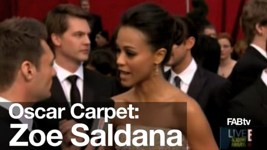 Zoe Saldana Arrives in Givenchy Couture: Oscars First Look