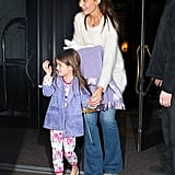 Katie Holmes and Suri Cruise at ABC Kitchen in NYC.