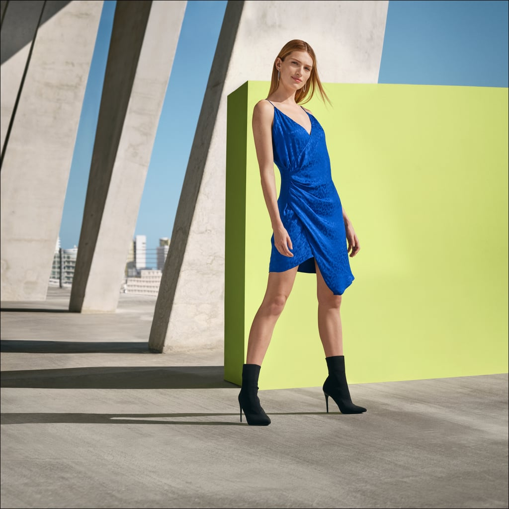 Cushnie for Target Leopard Print Wrap Slip Dress