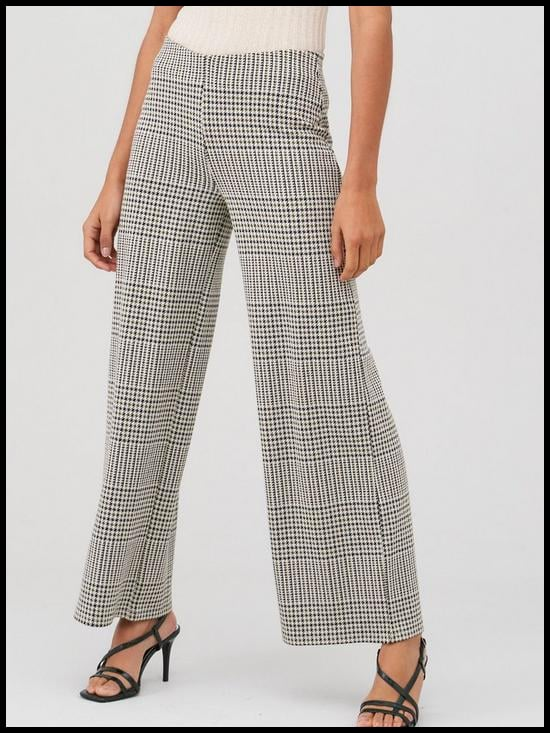 V by Very Check Wide Leg Trousers