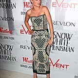 Kristen Stewart wore a two-piece Balmain ensemble.