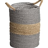Round Seagrass Striped Basket ($17)