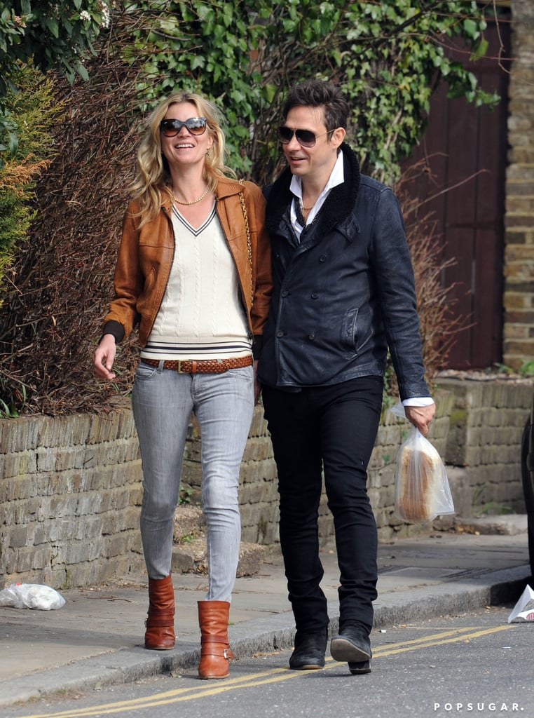 Kate and Jamie shared a laugh while walking through their London neighborhood in March 2012.