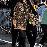 Selena Gomez Wearing a Cheetah Print Hoodie in Paris