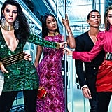The star-studded campaign, courtesy of Yahoo Style.  Shot by famed photographer Mario Sorrenti, the ads feature models Gigi Hadid, Kendall Jenner, Jourdan Dunn, Hao Yun Xiang, and Dudley O'Shaughnessy posing in a fancy subway car. Just looking at it, you can hardly tell this is a collaboration — which makes the whole affordable collection a serious must have.