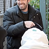 Ben Affleck appeared to be in high spirits when leaving an LA appointment with Seraphina in tow in March 2009.
