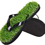 Flip Flops With Casual Grass Lawn Simulation