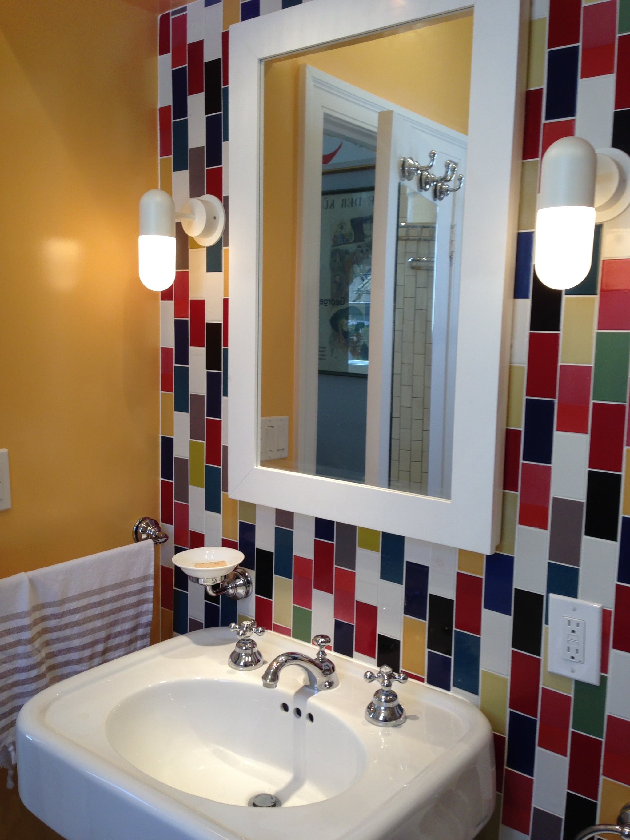 Colorful Bathroom Renovation Popsugar Home