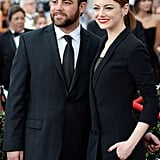 Emma Stone's brother Spencer joined her again for the SAG Awards.