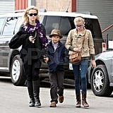Reese Witherspoon with her kids.