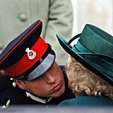 In December 2006, William kissed Camilla goodbye after the Sovereign's Parade in England.
