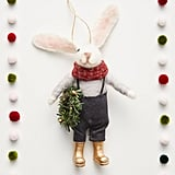 Rabbit Farmer Ornament