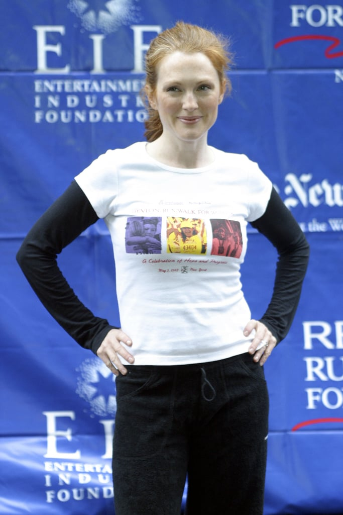 Julianne Moore got into gear at the May 2003 Revlon Run/Walk For Women Against Breast Cancer held in NYC.