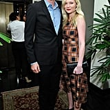 Kirsten Dunst and Garrett Hedlund arrived together on Thursday at W magazine's pre-Golden Globes bash.