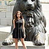 Irina Shayk was fierce in London's Trafalgar Square at a photocall for Hercules.
