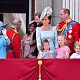 Meghan's very first appearance on Buckingham Palace's famous balcony happened in June during the Trooping the Colour parade.
