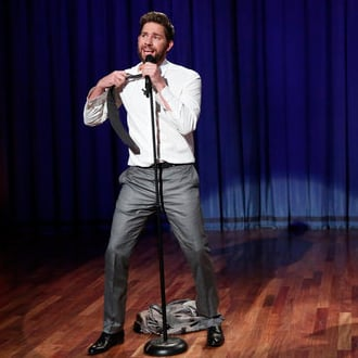 John Krasinski Lip Syncing With Jimmy Fallon
