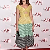 Mandy Moore looked lovely in Lela Rose at the AFI Awards.