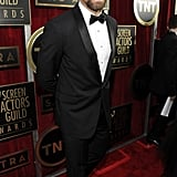 Hugh Jackman walked the red carpet at the SAGs.