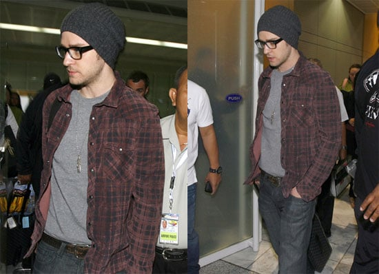 Photos of Justin Timberlake Arriving in the Philippines Before a Performance