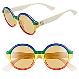 Gucci 51mm Rainbow Stripe Round Sunglasses