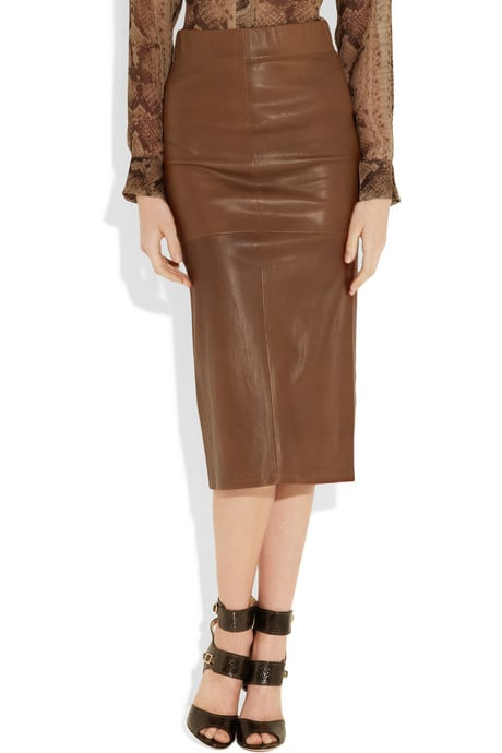 Leather: A luxurious leather skirt cut in a refined pencil shape; we'd wear this with a sheer top and ankle strap heels for a chic downtown appeal.   Zero+MariaCornejo Leather-Covered Pencil Skirt ($1,395)
