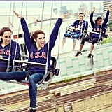 The fab five had some fun on the swings. Source: Instagram user mckaylamaroney