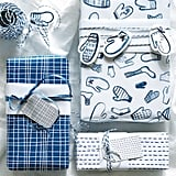 Vinter 2019 White and Blue Gift Wrap Rolls