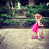 Harper Smith dressed up for a day of scootering around NYC. Source: Instagram user tathiessen