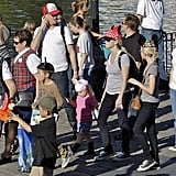 Reese Witherspoon with Jim Toth, Ava, and Deacon at Disneyland.
