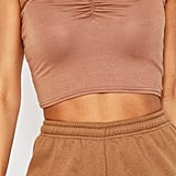 Boohoo Ruched Front Bandeau Top
